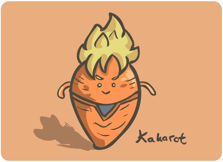 Dragon Ball Characters Vegetables of Dragon Ball Characters