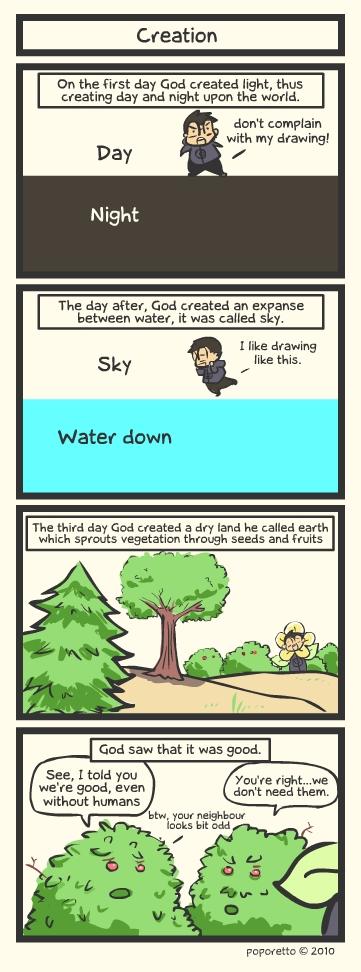 Genesis Bible Comic – Creation
