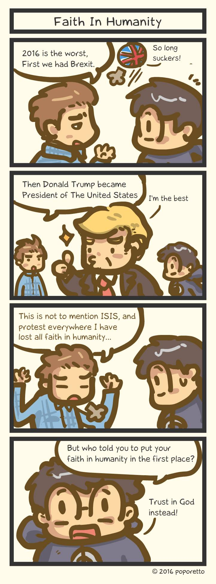 Christian comic strip Faith in humanity