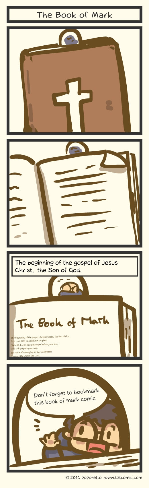 Christian Comic Strip the Gospel of Mark Book of Mark introduction
