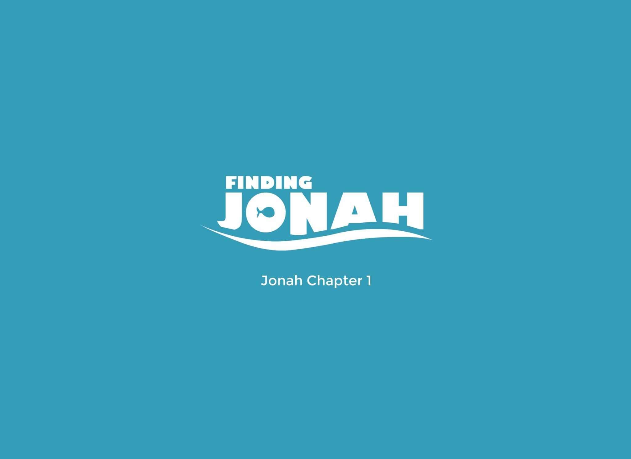 Finding Jonah, a talk based on the book of Jonah Chapter 1